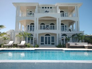 Oceanfront Contemporary villa ,fabulous views & lush grounds with infinity pool