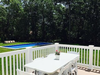 Escape to a beautiful sunny hamptons home with pool.