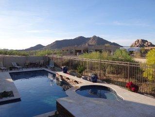 Brand New 2 Bdrm + Den/office/bdrm + 3 Baths With Boulders &  Blk Mtn. Views.