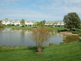 Designer Townhouse 3 Bedrooms, 2.5 Baths  On Lake In Private Quiet Community