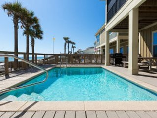 4 bed 3.5 bath Oceanfront Beach House w Pool & Hot Tub - Directly on the Beach!