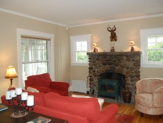 Walk to Main St, Cozy Family Room, Fenced-in Yard, Hot Tub, Fireplace, Game Area