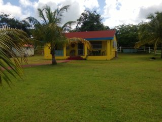 Colorful 3 bedroom Caribbean Cottage has recently been given a face lift.