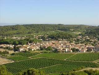 In the South of France Near the Sea Surrounded by Vineyards