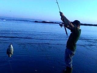 Fishing in the dusk, near Damon Point.