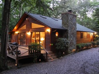 3.35 Acre Creek Front ~ Free Wi-Fi ~ No Other Cabins in Sight