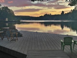 Waterfront home with magnificent sunsets on tranquil lake