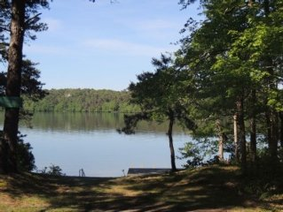 Great Herring Pond Hideaway with separate guest cottage and steps to the water