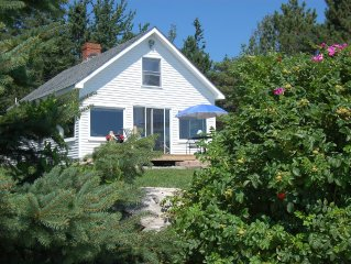 Oceanfront cottage with gorgeous views of Cadillac Mt.,seals and ocean birds
