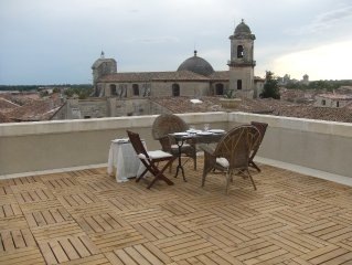 Breathtaking Terrace Views at the Foot of the Ancient Castle