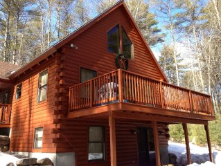 Black Bear Log Cabin -Sebago Lakes Region -Naples,Bridgton,Harrison area