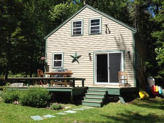 Private Waterfront Cottage In Wooded Setting, With Waterfront Access.