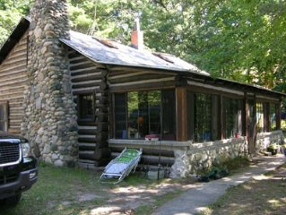 Cabin on the Lake - 600 ft of Lakefront Privacy, well off road on M-22