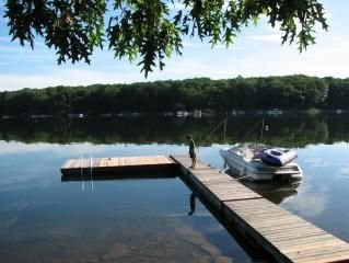 Your view from dock!  Beautiful Lakefront Cabin on Lake Wallenpaupack