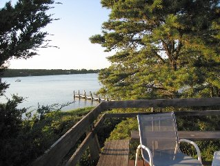Lovely waterfront home with private, sandy beach and mooring on Lagoon Pond