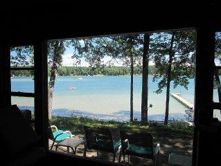 Vintage 3 bedroom cottage with 1.5 bath overlooking Bills Lake, Michigan