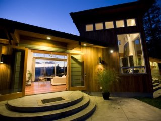 Modern luxury retreat with amazing gorge view and a private waterfall.