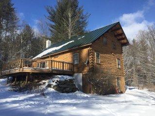 Beautiful Log Ski House, 10 Mins to Stratton Mtn