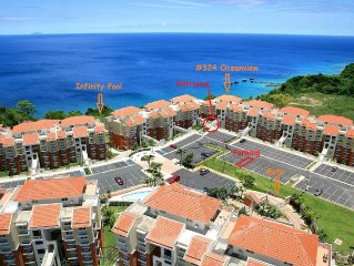 Oceanview Condo, Brilliant Sunsets, Private Balcony. Infinity Pool, WiFi, A/C