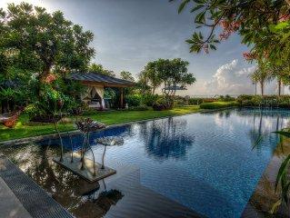 Villa Frangipani-a sprawling tropical lifestyle cliff top ocean view  pool Villa