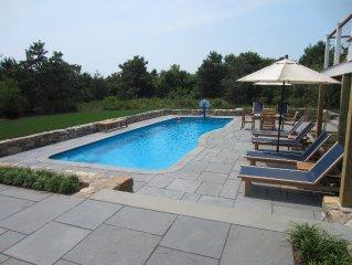 Katama Luxury - 4 BR Home w/ Heated Pool & Gas Fireplace near S Beach