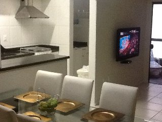 beautiful apartment only 40 meters from the beach. Wi-Fi 10 Mega and SKY HDTV