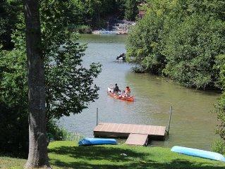 Newer Lakefront Log Cabin w/ Beautiful Water Views, 3-4 Br Plus Loft, Catskills