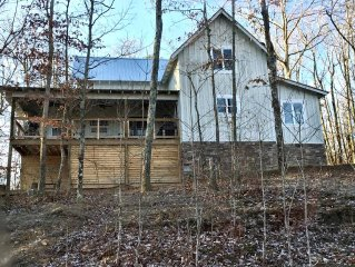 New Mountain Farmhouse With 4 Bedroom, 3.5 Baths, Great Porches And Lake Views