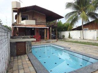Casa Rustica de praia com piscina, terraço próximo ao mar