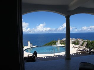 Amazing Ocean Views, Simply Best in Cap 4bds + private garden cottage, A/C, Maid