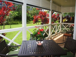Updated Nihilani Town Home (2015) In Princeville: Central AC and awesome pool!