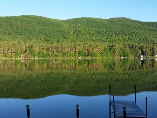 Enjoy the spectacular view at Sawyer's Moose Pond Waterfront Cabin