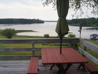 Newly renovated two bedroom apartment overlooking protected wildlife cove