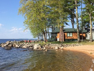 Authentic with Luxury Amenities With 250 Ft Of Private Sandy Frontage On Sebago