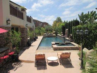 Elegant Encinitas Beach Villa - Steps To Beach With Resort Quality Backyard Pool