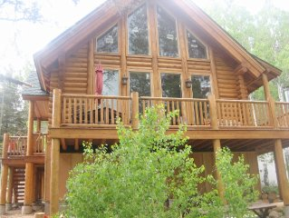 Gorgeous Log Cabin home on the Carson River in beautiful Hope Valley