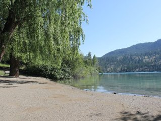 Beautiful home with lake view and steps to both Kalamalka Lake and Wood Lake
