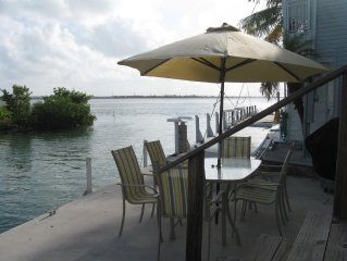 Dock 80'Heated Pool Deep Channel Tennis 15 Min Key West