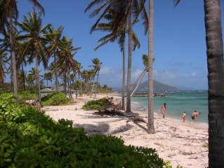 Coral Reef Villa NEVIS beachfront, near NISBET,private, ,pool