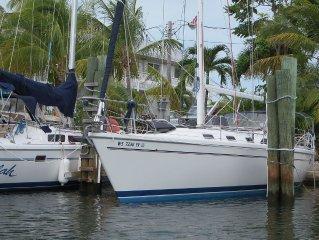 Stay On-board a 42 Ft. Sail Boat in the Florida Keys near Key Largo/Islamorada