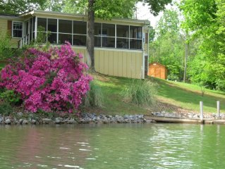 Pet friendly, Gently sloping lot, 2 docks, Quiet cove, Great swimming!