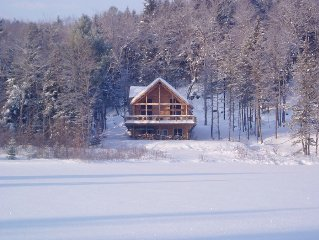 New Lakefront Log Home