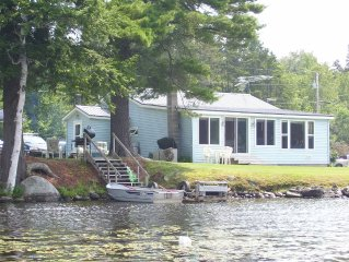 lake front  house on Neal Pond is located in the Northeast Kingdom of Vermont