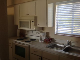 One bedroom duplex on golf course about one mile