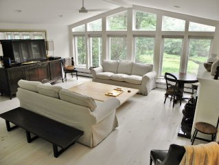 Serene, luxurious lakefront house  just steps from Main St in hip Narrowsburg