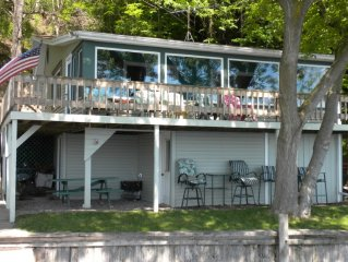 Waterfront Seneca Lake Cottage With Magnificent Views Romantic & Family Friendly