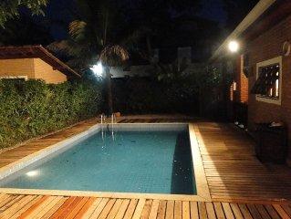 Beautiful house near the beach in Itamambuca condominium safely