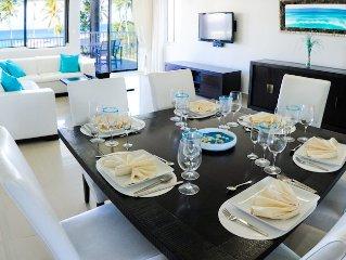 Luxury Beachfront Condo + Maid services