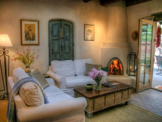 East side light-filled adobe w/ private courtyard. NEW rental for 2013!