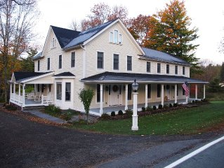 Catskills Farmhouse. Tastefully Restored. Stream, Patio, Barn